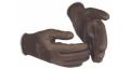 Pirštinės trikotažinės, aplietos nitrilu, juodos